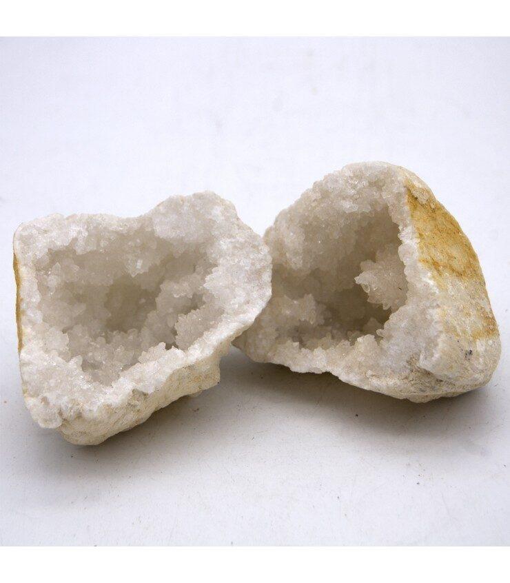 Geoda de cuarzo blanco