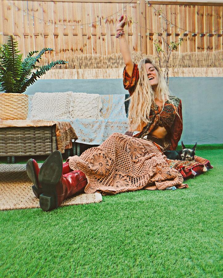 Falda crochet Boho