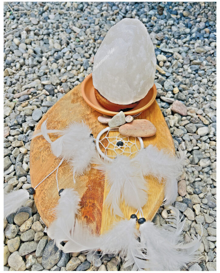 Lámpara de Sal blanca
