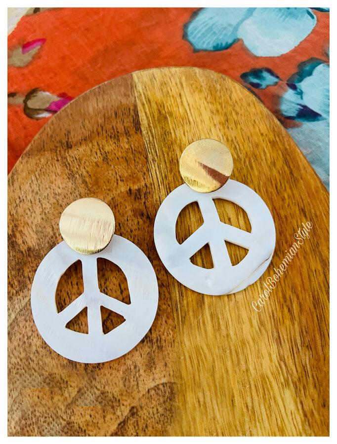 Pendientes Hippie Nácar