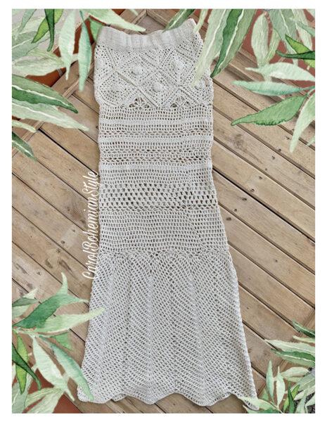 Falda Crochet Blanca