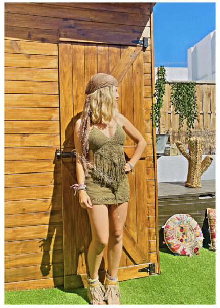 Top Gypsy Crochet Verde
