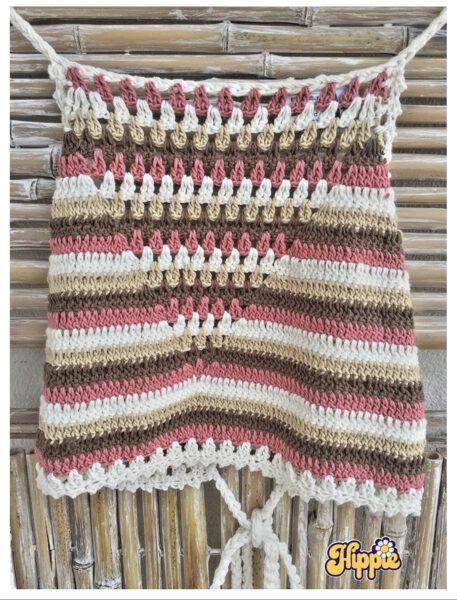 Top Crochet Rosa
