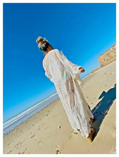 Kimono Caños Beige