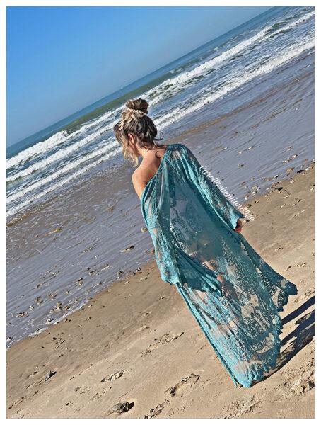 Kimono Caños Turquesa