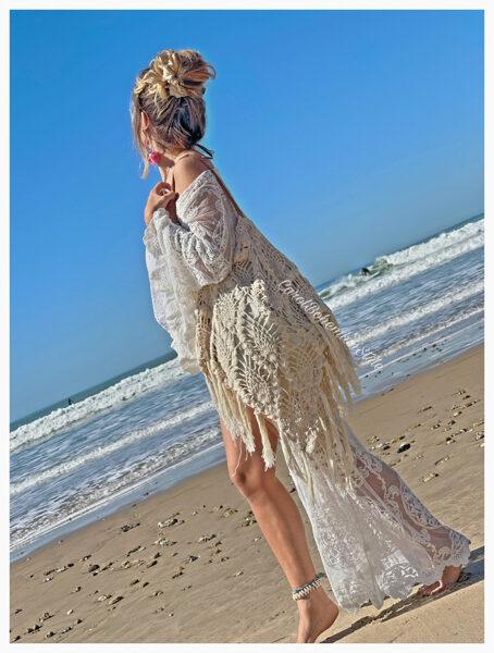 Kimono Caños Blanco