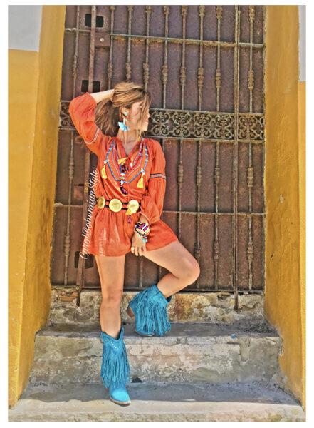 Vestido Boho Girl love