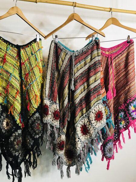 Falda/Poncho Hippie Gris