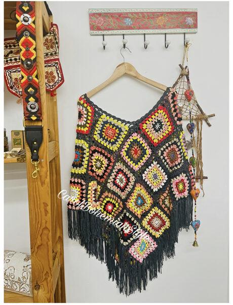 Poncho Crochet Boho