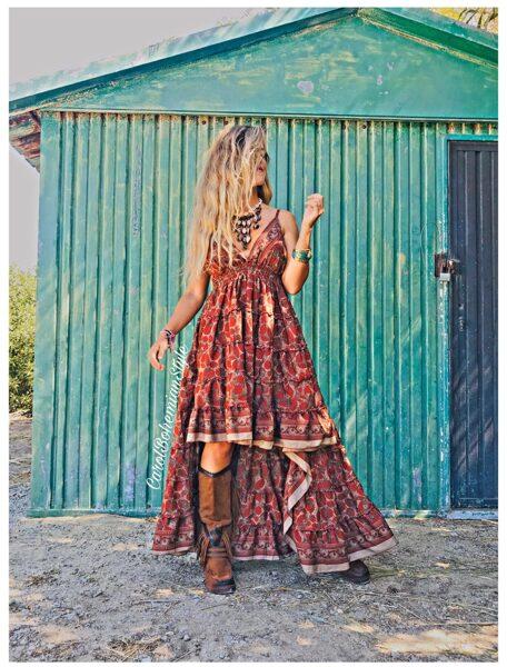 Vestido asimétrico hippie